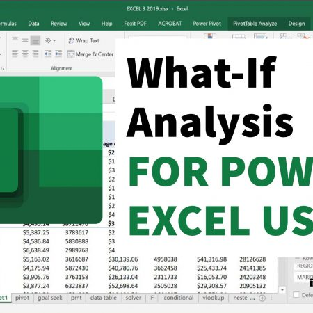 What-If Analysis for Power Excel Users