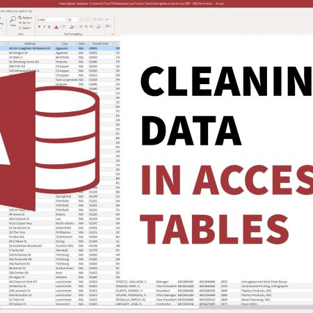 Cleaning Data in Microsoft Access Tables